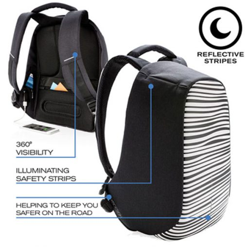 BOBBY COMPACT ZEBRA BACKPACK