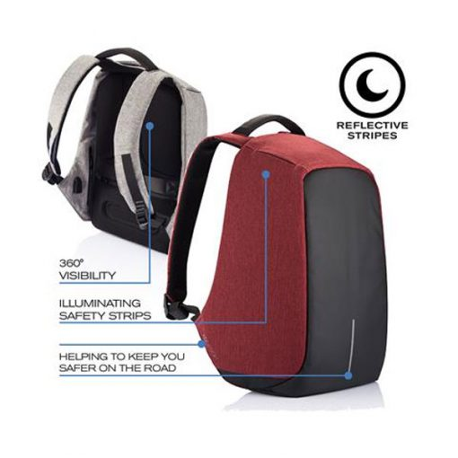 BOBBY ANTI THEFT BACKPACK RED